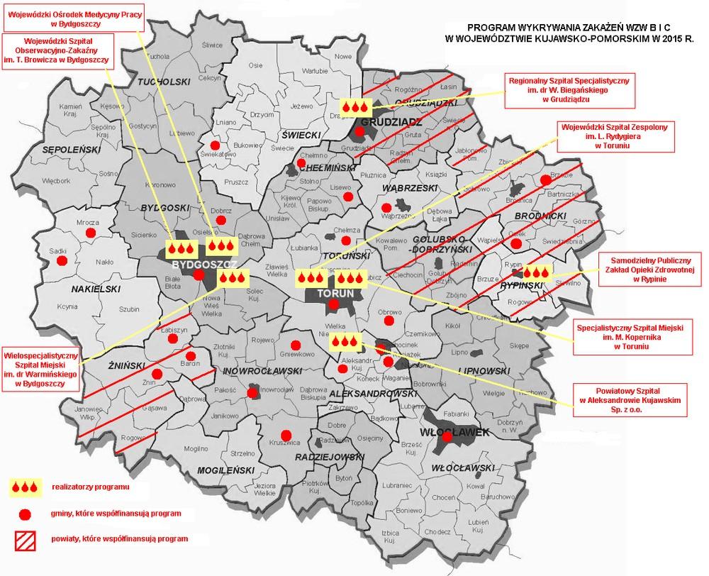 Pomoc Dydaktyczna Wojewodztwo Kujawsko Pomorskie Mapa