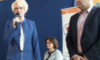 Dyrektor KPCEN Grażyna Troszyńska i dyrektor MZS w Radziejowie  Remigiusz Koźmiński