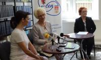 SpotkanieOlgi Bończyk  z mediami