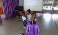 Recytacja nagrodzonych wierszy przez uczestniczkę Konkursu