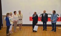 Ks. Paweł Nowogórski dziękuje współorganizatorom Konkursu