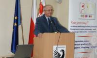 Franciszek Koszowski Starosta Powiatu Świeckiego otwiera konferencję