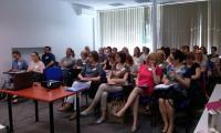 Uczestnicy szkolenia Podejrzenie przemocy domowej wobec dziecka - diagnoza i interwencja, Toruń, 19.05.2017 r.,  fot. Biuro Wsparcia Rodziny i Przeciwdziałania Przemocy