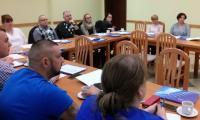 Szkolenie Walka z przemocą – praktyczne szkolenie dla osób tworzących system przeciwdziałania przemocy w rodzinie, Brodnica, 25-27.X.2017 r., - uczestnicy szkolenia, fot. Biuro Wsparcia Rodziny i Przeciwdziałania Przemocy