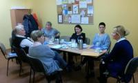 Spotkanie superwizyjne prowadzone przez p. Katarzynę Łęgowską, Chełmno 1.XII.2017 r., fot. Biuro Wsparcia Rodziny i Przeciwdziałania Przemocy