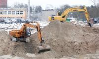 Budowa nowego kompleksu szpitala na Bielanach, luty 2017, fot. Mikołaj Kuras dla UMWKP