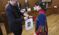 Wręczenie nagród laureatkom, fot, Andrzej Goiński