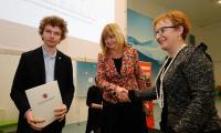Konferencja z udziałem gimnazjalistów oraz dyrektorów szkół w toruńskim Centrum Nowoczesności Młyn Wiedzy (24 marca), fot. Mikołaj Kuras