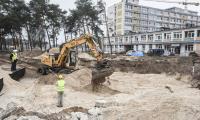 Postępy na budowie szpitala na Bielanach, fot. Andrzej Goiński/UMWKP