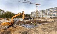 Budowa szpitala na Bielanach, 26 kwietnia 2017; fot. Szymon Zdziebło/tarantoga.pl dla UMWKP