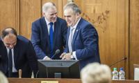 Wizyta komisarza Vytenisa Andriukaitisa podczas sesji sejmiku województwa, fot. Andrzej Goiński