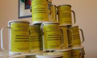 Puszki przygotowane do naszej kwesty, fot. Magdalena Kujawa/UMT