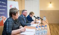 Konferencja prasowa w Ośrodku Braille'a, fot Tymon Markowski