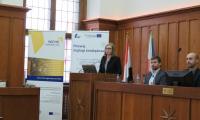 Pani Monika Strojecka-Gevorgyan prezentuje zasady naboru w programie Interreg Europa Środkowa