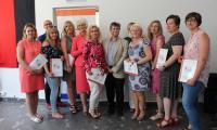 Wreczenie dyplomów opiekunom uczestników konkursu Na Zachód od Odry