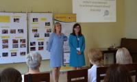 Rozpoczęcie konferencji w Bydgoszczy przez dyr. KPCEN i Przedszkola 34 w Bydgoszczy - Mariola Cyganek i Ewa Tomasik