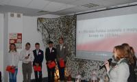 Wychowankowie internatu KPSOSW podczas występu z okazji 100-lecia odzyskania niepodległości, fot. Sebastian Werec