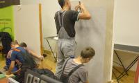 Praktyczne umiejętnosci prezentują uczniowie ZS Budowlanych