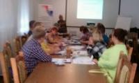"""Szkolenie """"RODZINA WOLNA OD PRZEMOCY – PRAKTYCZNE SZKOLENIE DLA OSÓB TWORZĄCYCH SYSTEM PRZECIWDZIAŁANIA PRZEMOCY"""", Koronowo, 10-12.09.2018 r., fot. Biuro Wsparcia Rodziny i Przeciwdziałania Przemocy"""