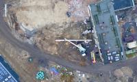 Rozbiórka starej kotłowni, fot. Sky Drone Studio