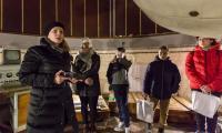 Uczestnicy zimowiska w obserwatorium astronomicznym w Piwnicach, fot. Szymon Zdziebło/tarantoga.pl