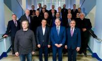 Konferencja prasowa prezydium komitetu budowy pomnika Pamięci Ofiar Zbrodni Pomorskiej 1939, fot. Łukasz Piecyk dla UMWKP