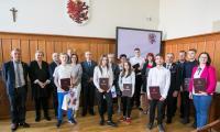Laureaci konkursu wiedzy o Annie Wazównie, fot. Andrzej Goiński