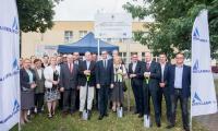 Uroczystość wbicia pierwszej łopaty na placu budowy drogi nr 255 w Pakości, fot. Łukasz Piecyk