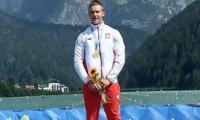 Mistrz Europy Juniorów w kajakarstwie Bartosz Grabowski (KST Włókniarz Chełmża), fot. nadesłane