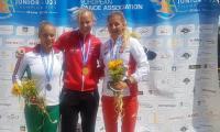 Złota medalistka do lat 23 w osadzie K-4 na 500 m i srebrna medalistka na 500 m w K1 Helena Wiśniewska z Zawiszy Bydgoszcz (pierwsza z lewej), fot. nadesłane