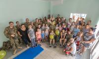 Spotkanie żołnierzy z małymi pacjentami Wojewódzkiego Szpitala Zespolonego w Toruniu, fot. Szymon Zdziebło/Tarantoga.pl