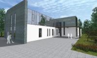 Wizualizacja nowego budynku Hospicjum Światło, wiz. Allplan