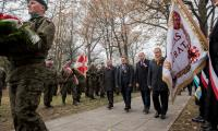 Uroczystość na toruńskim cmentarzu komunalnym, fot. Łukasz Piecyk dla UMWKP