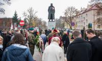 Uroczystość pod pomnikiem generała Hallera w Toruniu, fot. Łukasz Piecyk dla UMWKP