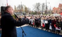 Spotkanie pracowników Urzędu Marszałkowskiego w ramach obchodów odzyskania niepodległości, fot. Łukasz Piecyk