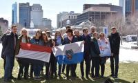 Nasza grupa przed Independence Hall