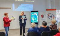 Wykład p. dr hab. Małgorzaty Makiewicz - profesora Uniwersytetu Szczecińskiego, fot. KCPEN Włocławek