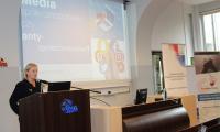 """Konferencja pt. """"Bezpieczeństwo w sieci – prewencja cyfrowych zagrożeń wieku dorastania"""", fot. materiały własne Biura Wsparcia Rodziny i Przeciwdziałania Przemocy"""