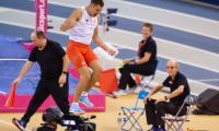 Paweł Wojciechowski cieszy się po udanym skoku; fot. Paweł Skraba