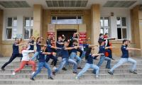 Zawodnicy karate z hiszpańskiej Nawarry odwiedzili Urząd Marszałkowski, fot. Mikołaj Kuras