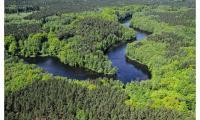 Wdecki Park Krajobrazowy z lotu ptaka, fot. Daniel Pach