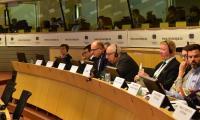 Wystąpienie marszałka Piotra Całbeckiego na posiedzeniu Komisji Zasobów Naturalnych Komitetu Regionów, fot. Mieszko Matusiak/UMWKP