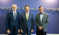 Spotkanie wicemarszałka Zbigniewa Ostrowskiego i ambasadora Chorwacji Tomislava Vidoševića, fot. Andrzej Goiński/UMWKP