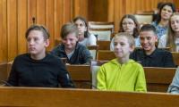Wizyta młodzieży polonijnej z Ukrainy w Urzędzie Marszałkowskim, fot. Szymon Zdziebło www.tarantoga.pl