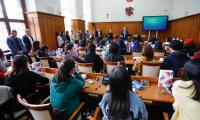 Wizyta studentów z zagranicy w Urzędzie Marszałkowskim, fot. Mikołaj Kuras