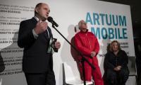 """Wernisaż wystawy """"Artuum Mobile: Świat Saskii Boddeke i Petera Greenawaya"""", fot. Mikołaj Kuras"""