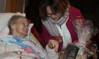 Paczkę otrzymała także Marianna Janus, fot. GOK Unisław