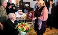 Spotkanie przewodniczącej sejmiku Elżbiety Piniewskiej z Kazimierzem Maciejewskim, fot. Andrzej Goiński dla UMWKP
