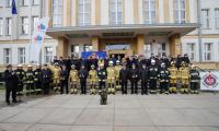 Uroczystość przekazania wozów ratowniczo-gaśniczych jednostkom Ochotniczych Straży Pożarnych, fot. Mikołaj Kuras dla UMWKP