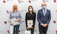 Wizyta młodych mistrzów lekkiej atletyki w Urzędzie Marszałkowskim, fot. Szymon Zdziebło tarantoga.pl dla UMWKP